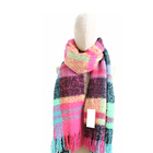 Girl Scarf Girl Scarf Girl Long Oversized Fashion Tartan Woven Scarf For Ladies