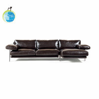 Hot selling leisure time office furniture modern office leather sofa