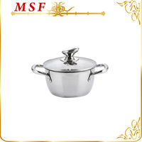 Top quality stainless steel cookware set insulated casserole hot pot with new design SS hollow handle MSF-3630-casserole pot