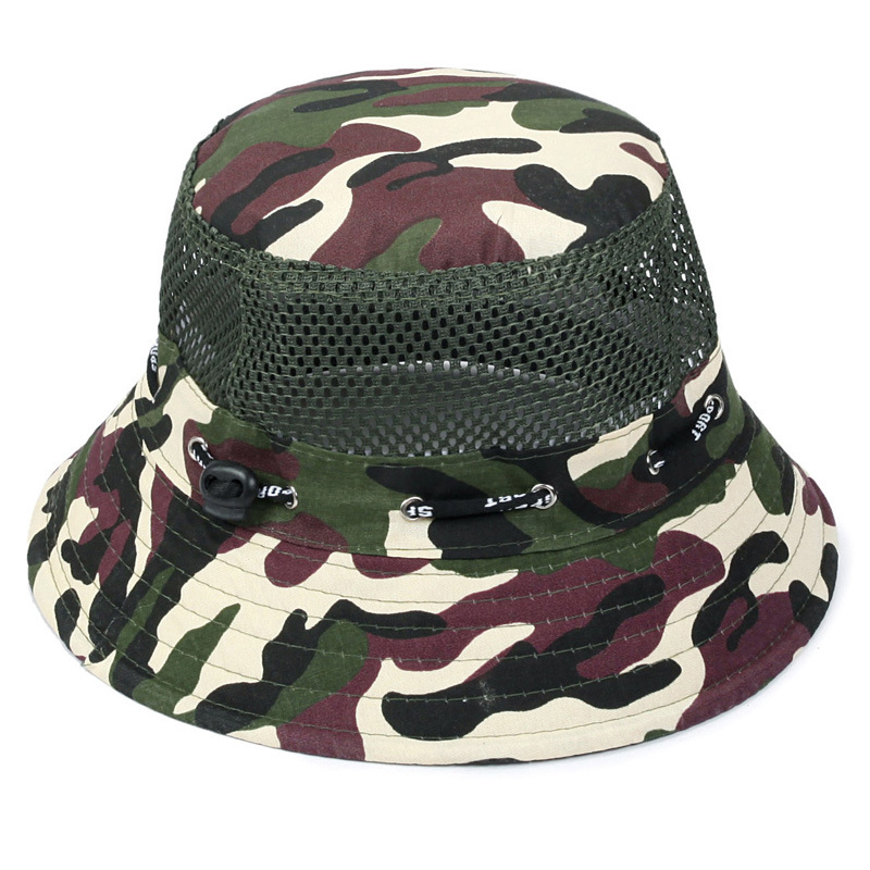 Ever Song 2017 Men Fashion Camouflage Color Bucket Hats Round Top High Quality Casual Man Bucket Hats YS-0374