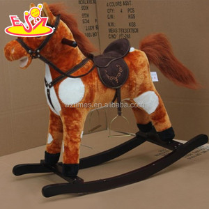 wholesale high quality children wooden toy horse for sale W16D065