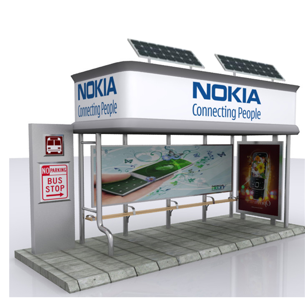 product-YEROO-2020 Customized Advertising Bus Stop Solar Energy Bus Shelter-img-6