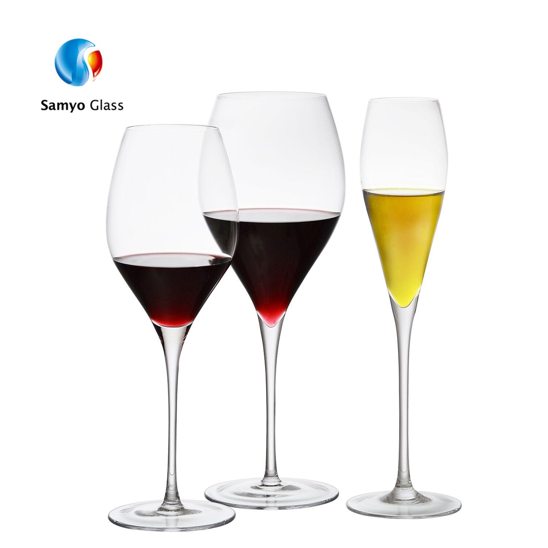 Handgemaakte Grote Capaciteit Crystal Fancy Wijnglas