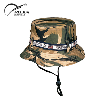 721b490dbc3 Custom Washington Dc Logo And American Flag Camo Bucket Hat - Buy ...