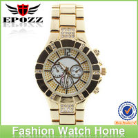 2014 Updated mens stainless steel quartz goldlis watch with special dial design Japanese movement