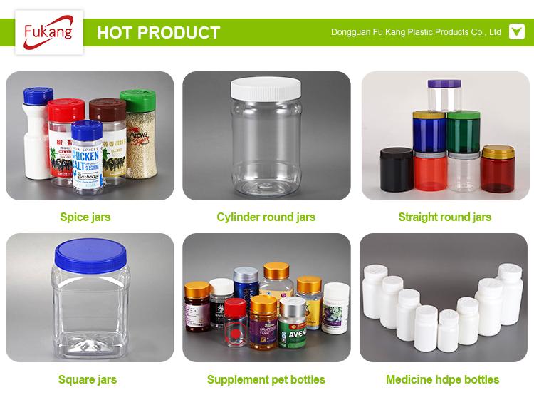 Heißer verkauf küche knoblauch grinder flasche und salz flasche pfeffer chili shaker kunststoff spice jar mit angepasst deckel