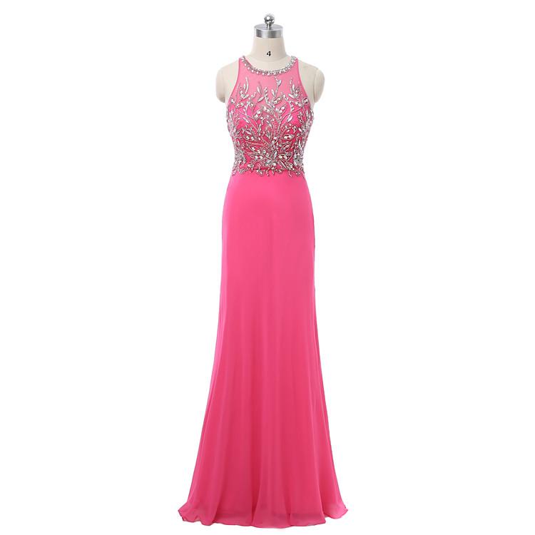 Großhandel abendkleider lang rosa Kaufen Sie die besten abendkleider ...