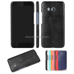 for htc u11 hard case, croco leather back cover case for htc u11
