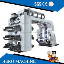 HERO BRAND High speed 6 color flexo printing machine price tshirt printing machine