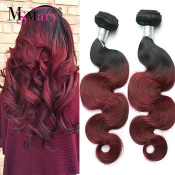 1B/Burgundy Malaysian Body Wave 4 Bundles Cheap Ombre Hair Samples Free Shipping