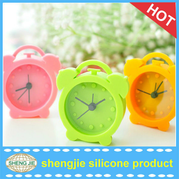 mini table clock silicone talking alarm clock