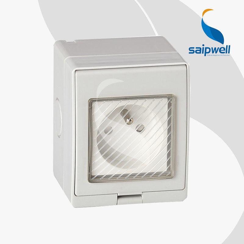 Saipwell Y Ce French Standard Outdoor Rainproof Wall Socket Fs 13a Multi Plug Adaptor
