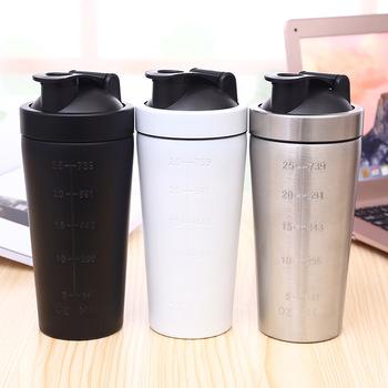 Dual Stainless Steel Protein Coffee Shaker Bottles Logo Printing ... 727632409