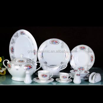 Royal Gold Silver Ceramic New Bone China Dinnerware Sets Luxury Dinner Set Porcelain For Gift & Royal Gold Silver Ceramic New Bone China Dinnerware Sets Luxury ...