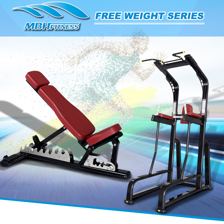 Factory price body strong equipment multi adjustable bench