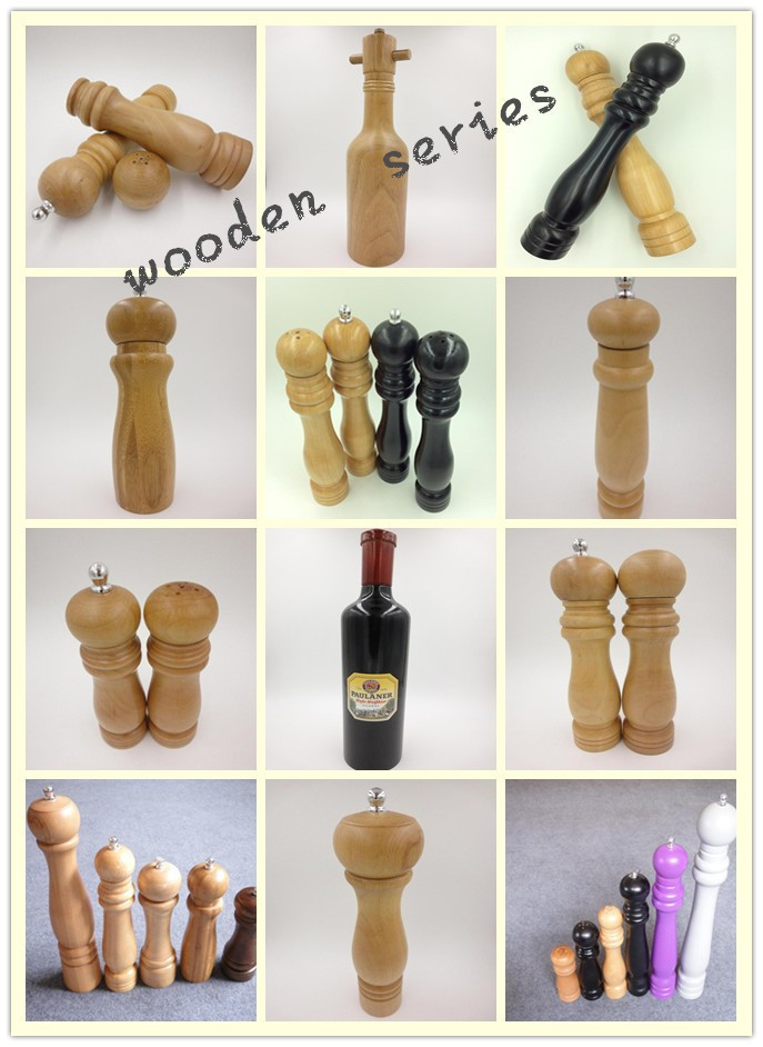 W-015-1pc wooden pepper mill /herb spice grinder