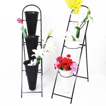 Custom 3pcs Vase Flower Stand Display For
