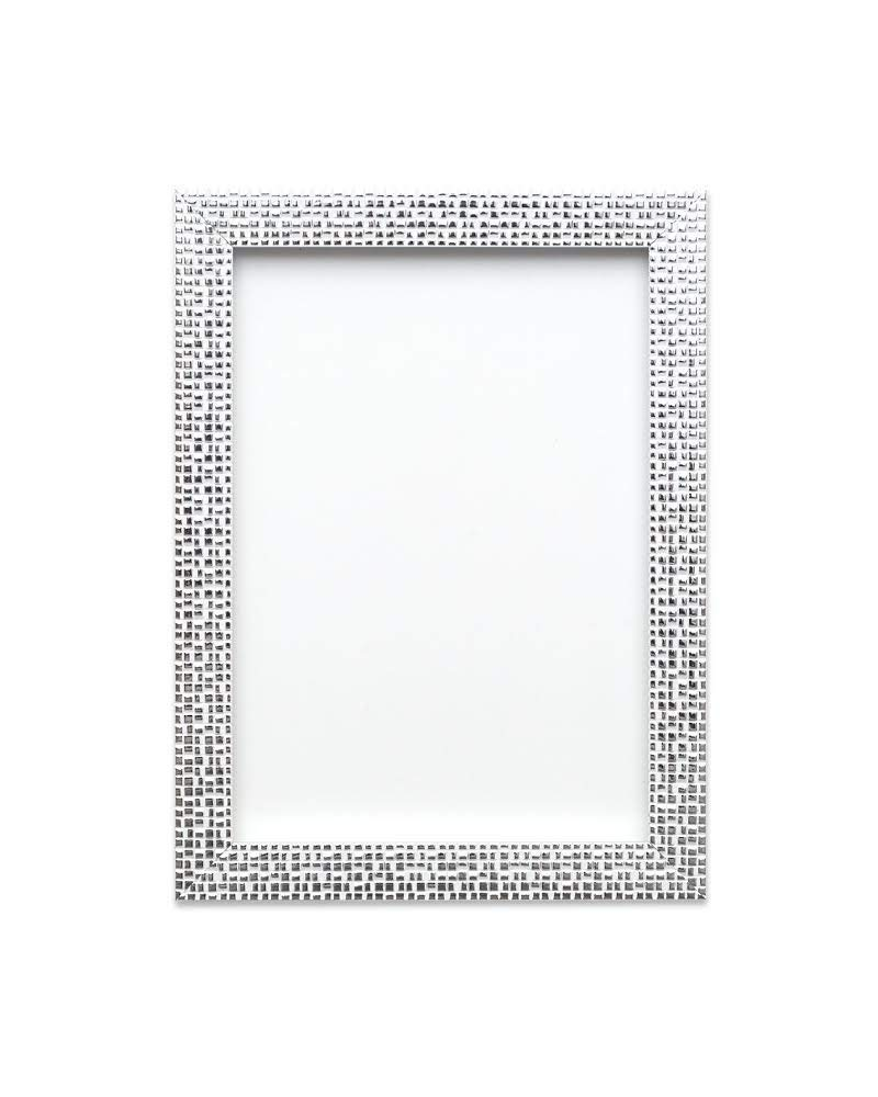 "Paintings Frames Flat Bright/Mirror Effect/Pop Star Picture/Photo/Poster Frame With MDF Backing Board Hang/Stand With Styrene Perspex Sheet Moulding Measures 28Mm Wide & 16Mm 16""X12"" Silver Bling"