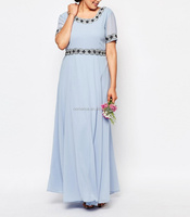 Lady new wear simple long dress