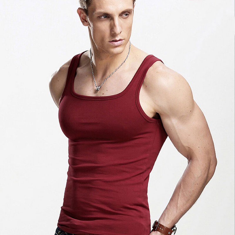 c4453a7d Get Quotations · Fashion Brand Men's 100% Cotton O-Neck Tops Summer Male Sleeveless  V-Neck