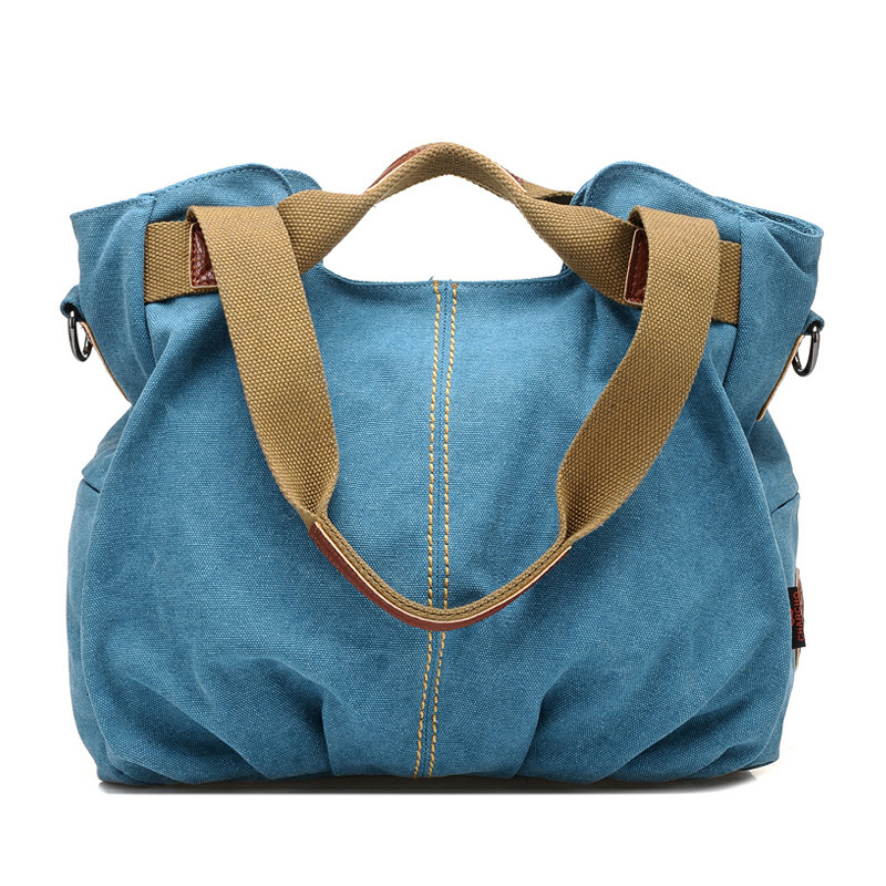 Size Cotton Canvas Fabric Handbags Shoulder Tote Cloth Hand Bags For Las Bag Product On Alibaba