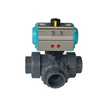 PVC Thread Three Piece Ball Valve With Pneumatic Actuator