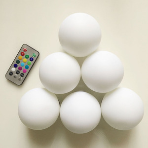 Kid's LED Globe Night Light Ambient Color Changing Glass Mood Lamp with Remote Control