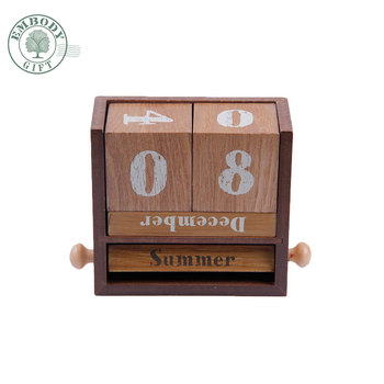 Wholesale High Quality Wooden English Desk Block Advent Wooden Perpetual Calendar Buy Wooden Block Advent Calendarwooden Table Calendarwooden
