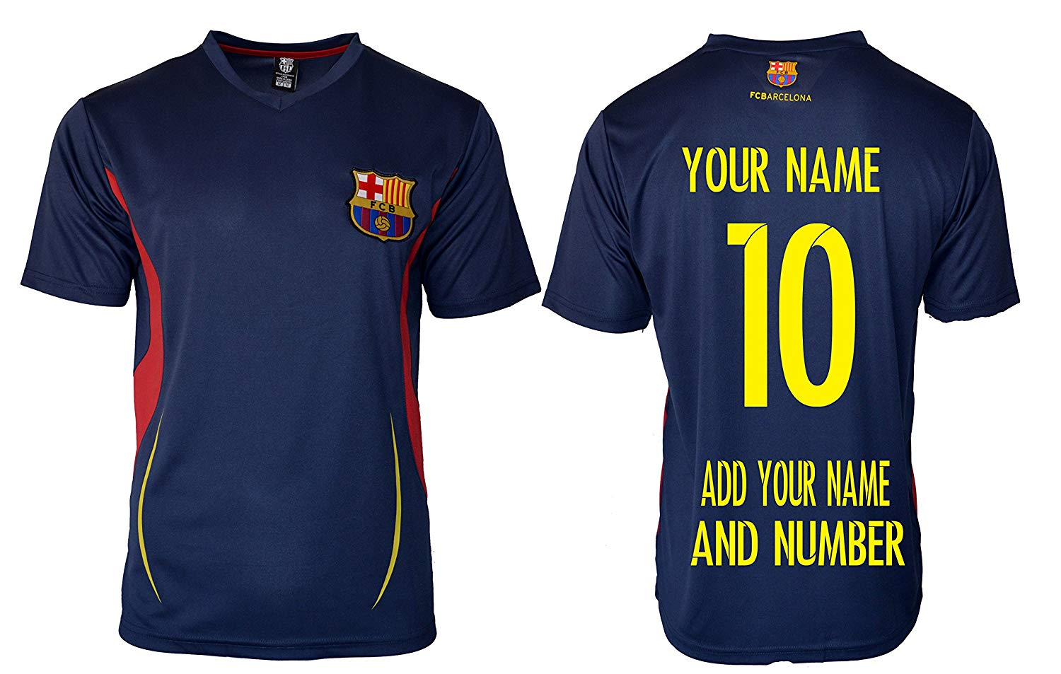 0845facd0ba Get Quotations · FC Barcelona Soccer Jersey Men s Adult Training  Performance any Name Customized T1E23