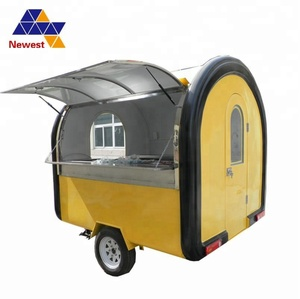 Durable and safety mobile food trailer/food processing machine/ dry food machine carts for fast food