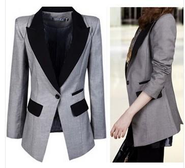 Женская одежда работа пальто колледж отдых тонкий костюм г-жа куртка леди женщин jaquetas femininas куртки пальто 3XL XXXL