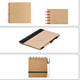 EARTH Recycled Paper Flip Notebooks with pen