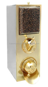 Coffee Bean Dispenser/Coffee Bean Silo/ High Qualified Brass Plated Coffee Silo With Scoop KBN80