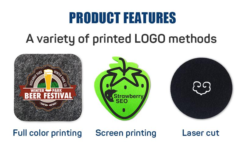 Miễn Phí Vận Chuyển Quà Tặng Khuyến Mại Thân Thiện Với Môi Cảm Thấy Chất Liệu Placemats Coaster Set