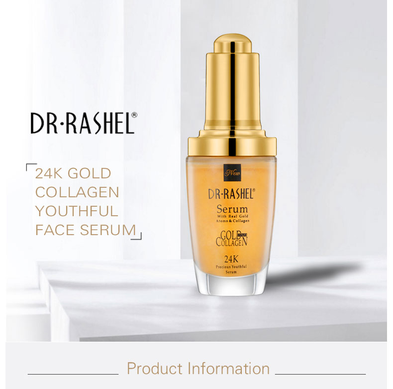 DR.RASHEL 24 K gold Atoms Makeup Primer Collagen Ampoule Anti Wrinkle Whitening Hyaluronic Acid 40 ml best skin care Face Serum