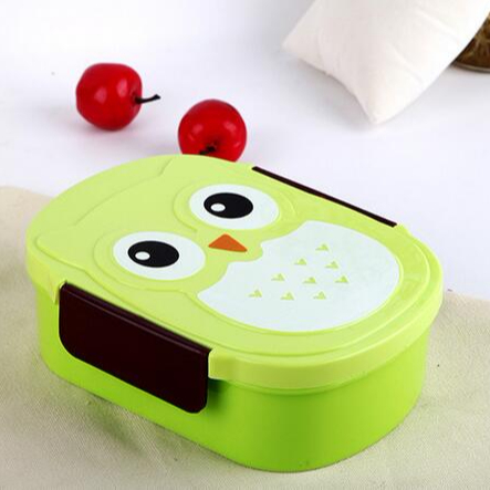 CY240 Owl Shape Insulated Lunch Box Kids Bento 3 Colors Microwave Oven Easy Open