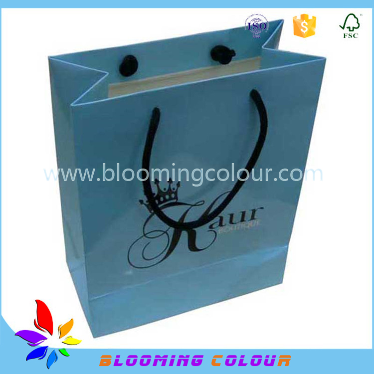 High quality Branded Retail private label small gift Paper packaging bags for eyelash and box