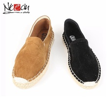 Chine nouvelle mode simple style dame noir espadrille chaussures