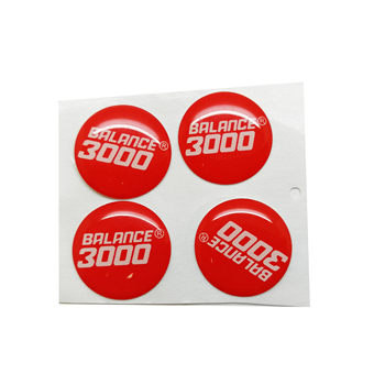 Custom waterproof 3d epoxy logo dome resin sticker, Silk screen printing gel doming resin label