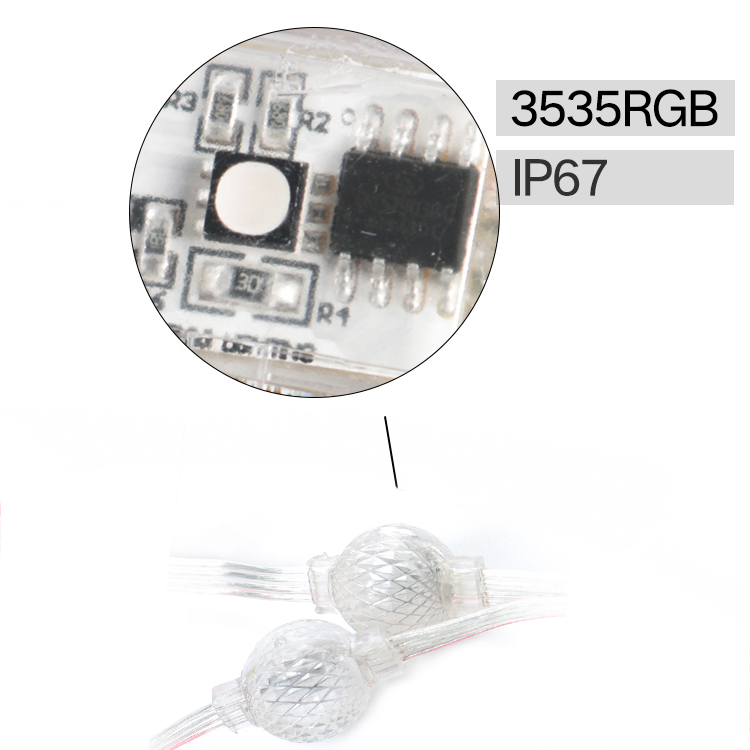 DC12V full color outdoor waterproof 3D mini smd3535 22mm 25mm pixel led ball