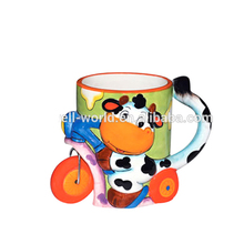 Custom design 3d thee kopjes kinderen koe auto cartoon mini cup <span class=keywords><strong>mokken</strong></span>