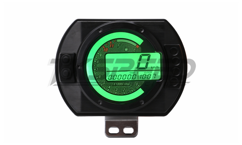 12500rpm Motorcycle Tachometer Lcd Mph Digital Odometer 7 Colors Backlight Motorcycle Meter