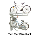 Two Bicycle Garage Bike Rack