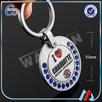 Unusual metal fashion key chain ring