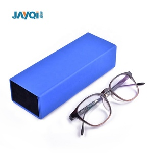 custom branded cute soft leather folding eye glasses case box for luxury sunglasses