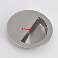 Semi-Circlar Opening Round Pocket Cup Flush Pull Handle,Furniture Pocket Pull Embedded Stainless Steel Hidden Edge Pull