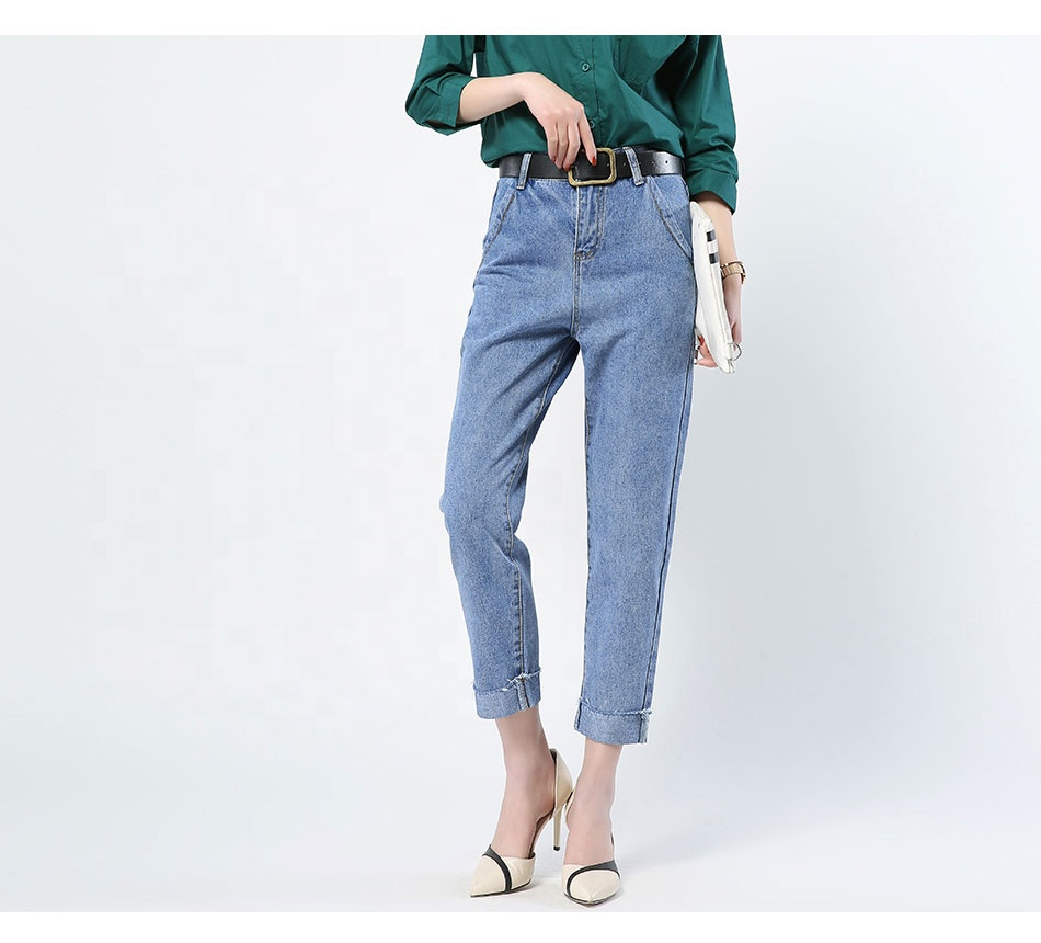 GAREMAY Boyfriend Jeans For Women Fashion High Waist vintage Jeans Woman Ankle Length Loose Cowboy Women Denim Harem Pants Femme фото