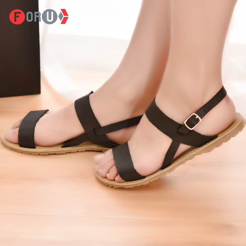 36d029ab41f2b 2016 new women summer shoes woman sandals flat fashion vintage flat heel  Leather sandals female shoes women s sandals shoes
