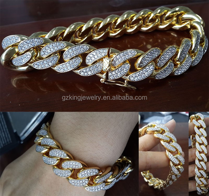925 Silver New Gold Cuban Link Chain Design For Men - Buy New Gold ...
