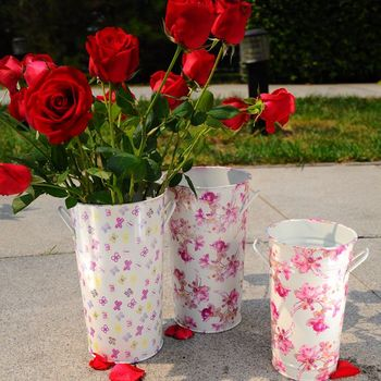 Colored Metal Tall Vases Wedding Glowers And Flowers Drawing Buy